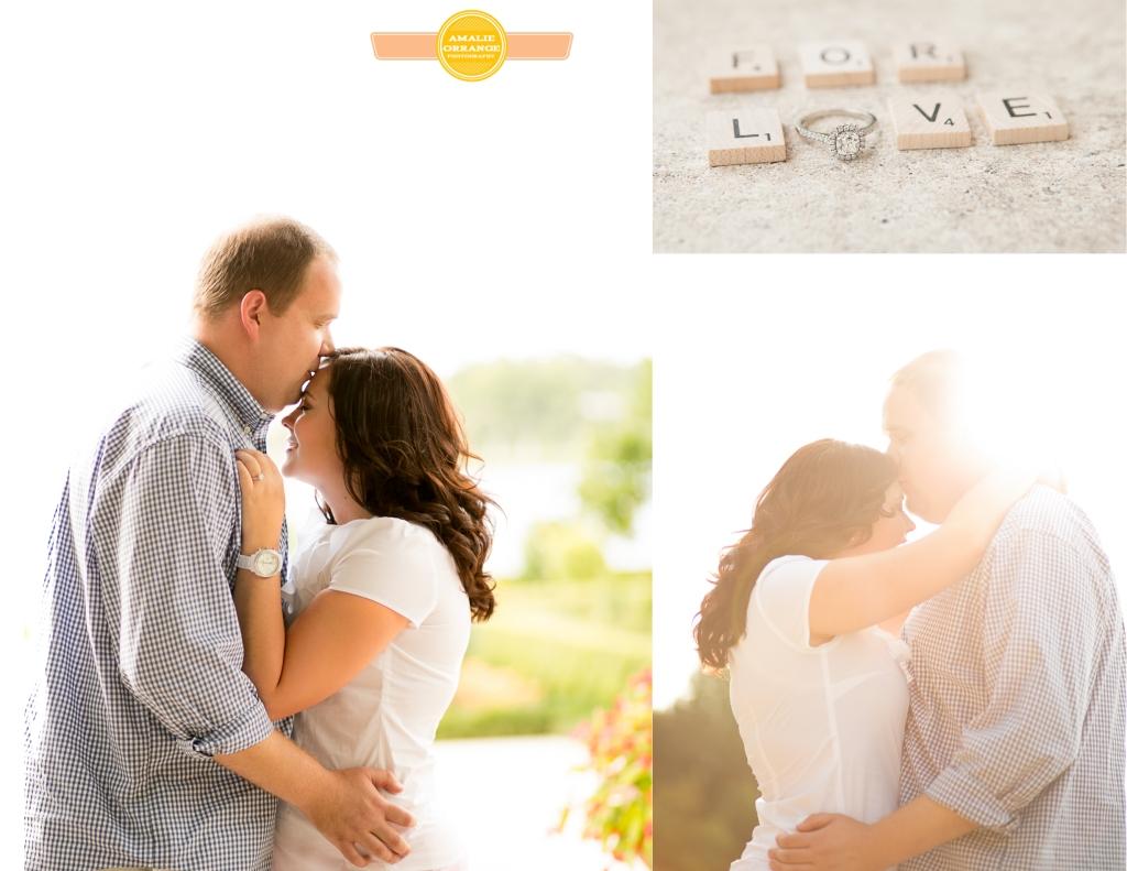 Engagement sun flare ring