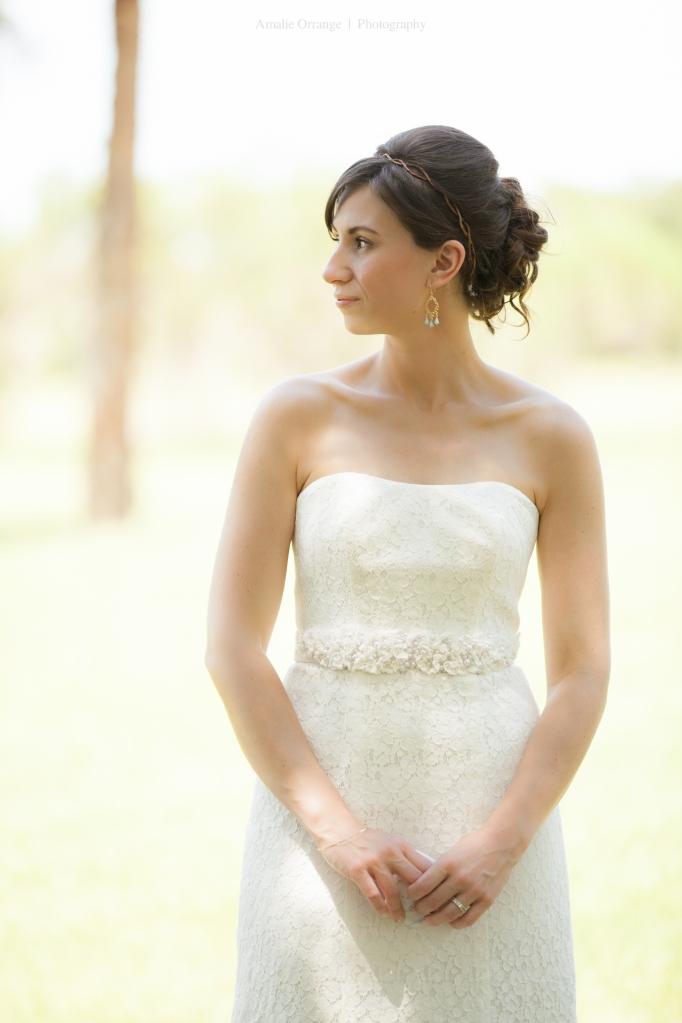 bride with handkerchief