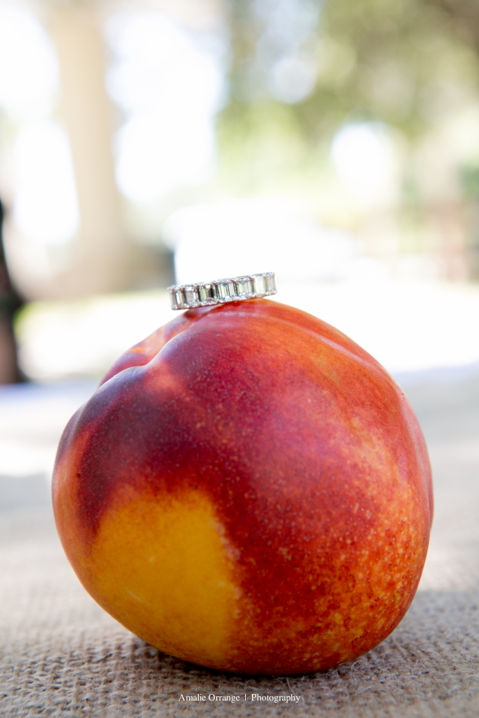 Ring on a peach