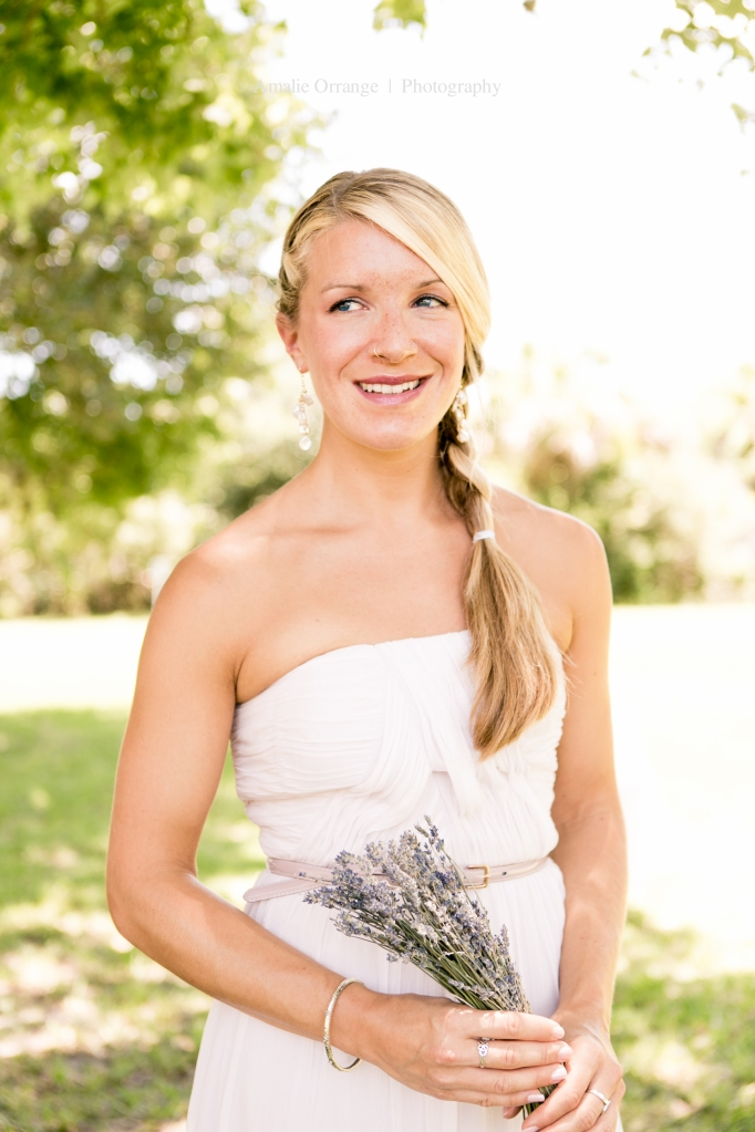 bridesmaid with lavender