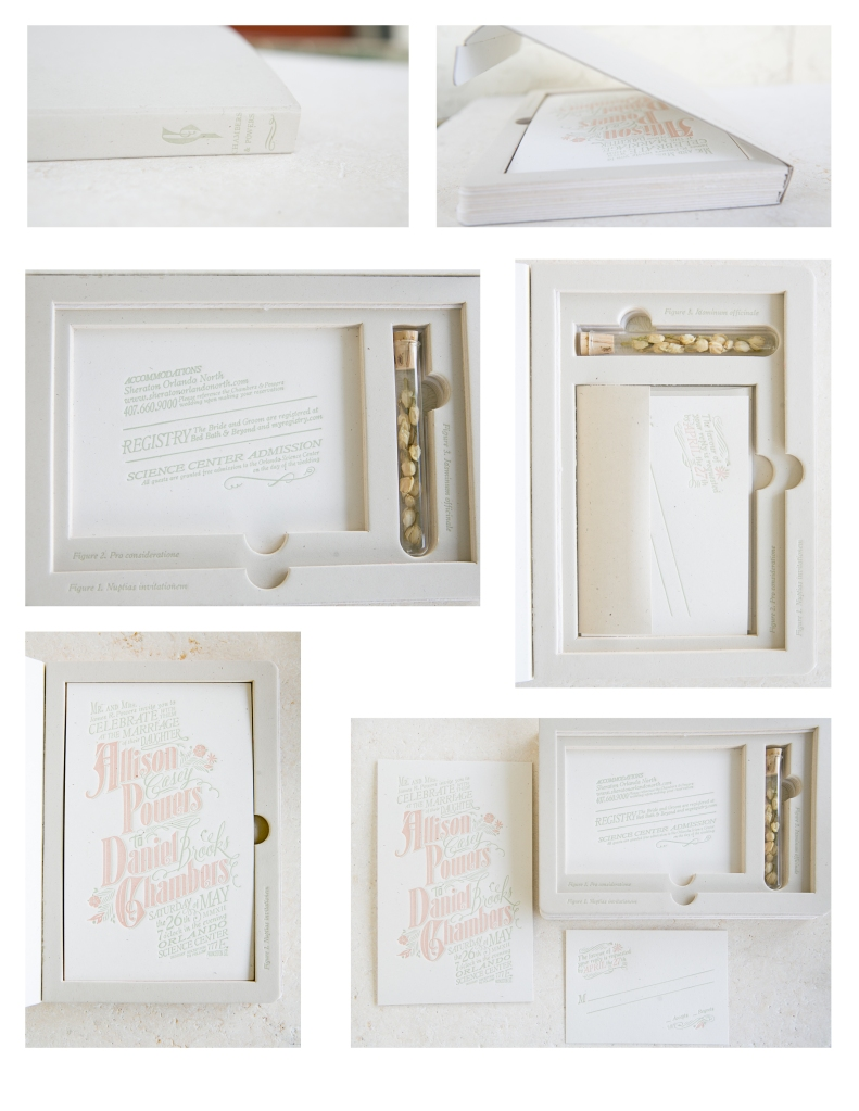 Letterpress invitations suite