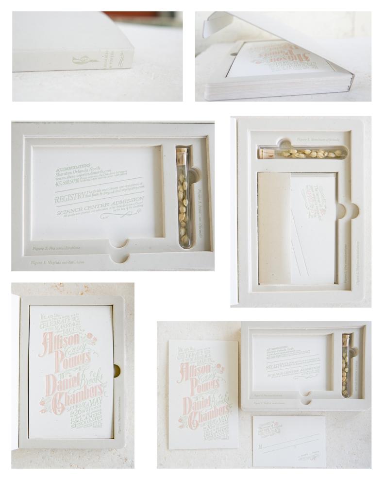 Letterpress invitations suite