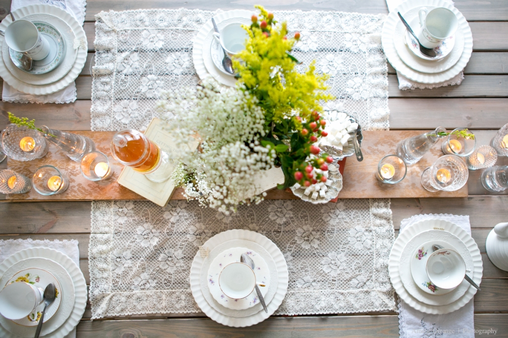 wedding rental furniture table setting