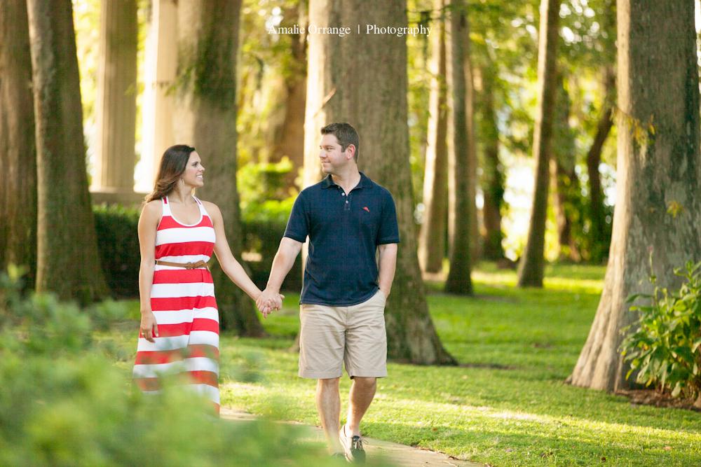 engagement session at Kraft Azalea  Garden florida