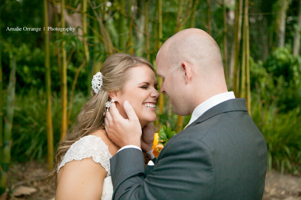 Bride and groom kissing   wedding Lake Mary Events Center