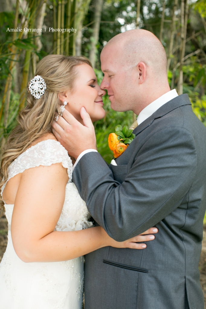 Bride and groom kissing   Lake Mary Events Center