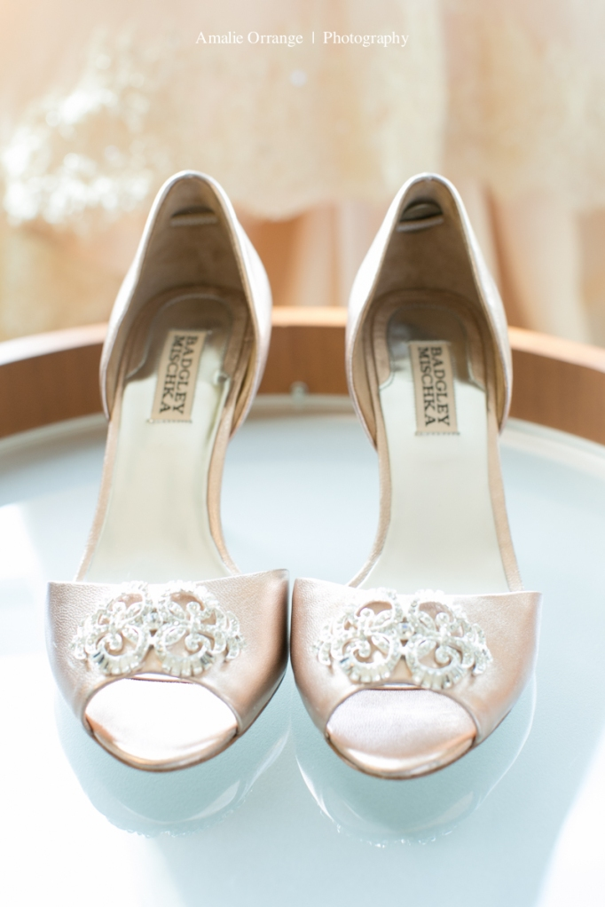 Wedding shoes with six pence