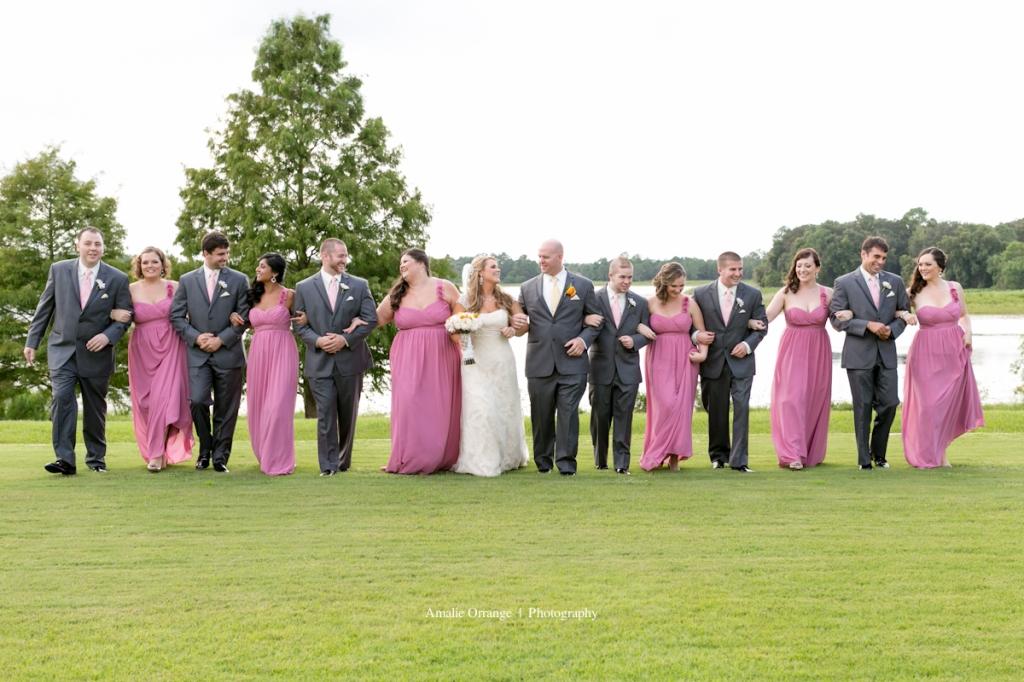 Bridal party at Lake mary