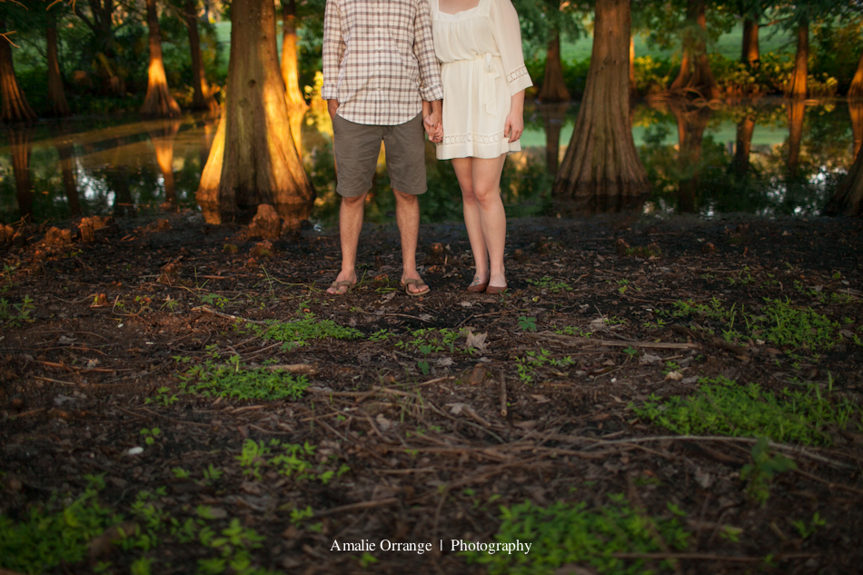 Orlando wedding engagement  photographer | girl and guy standing in a park