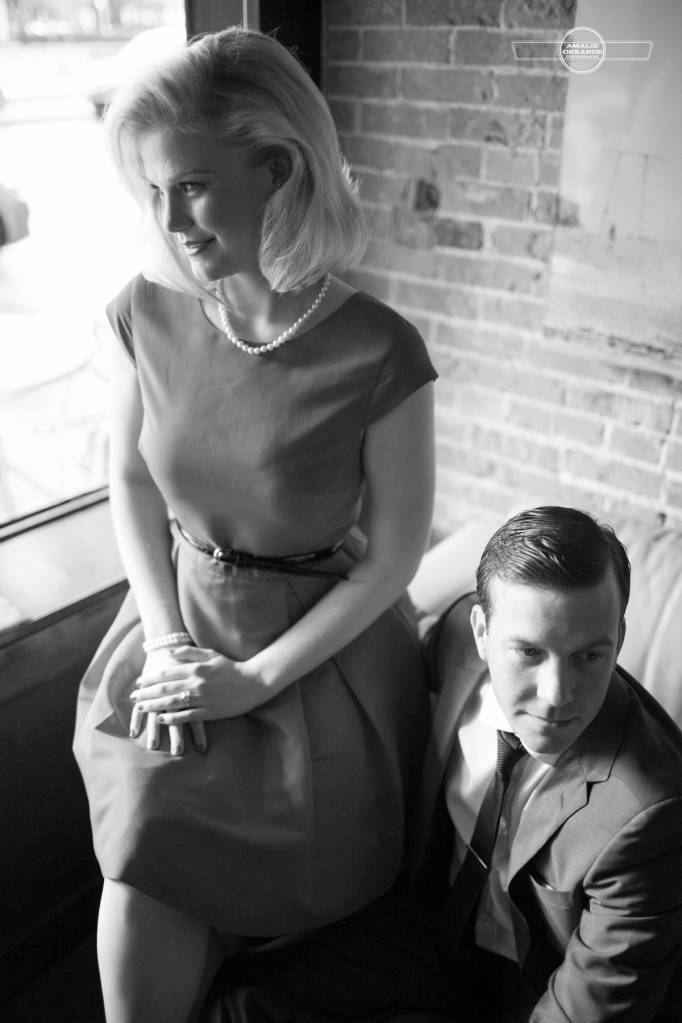 Mad Men themed styled shoot engagement