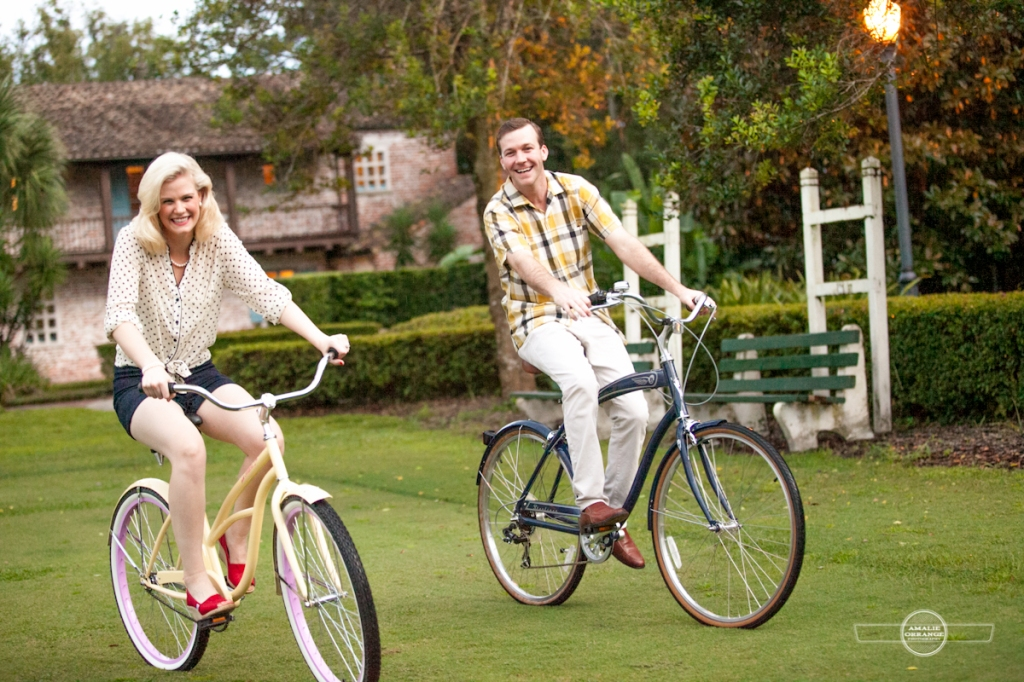Mad men inspired engagement bicycles