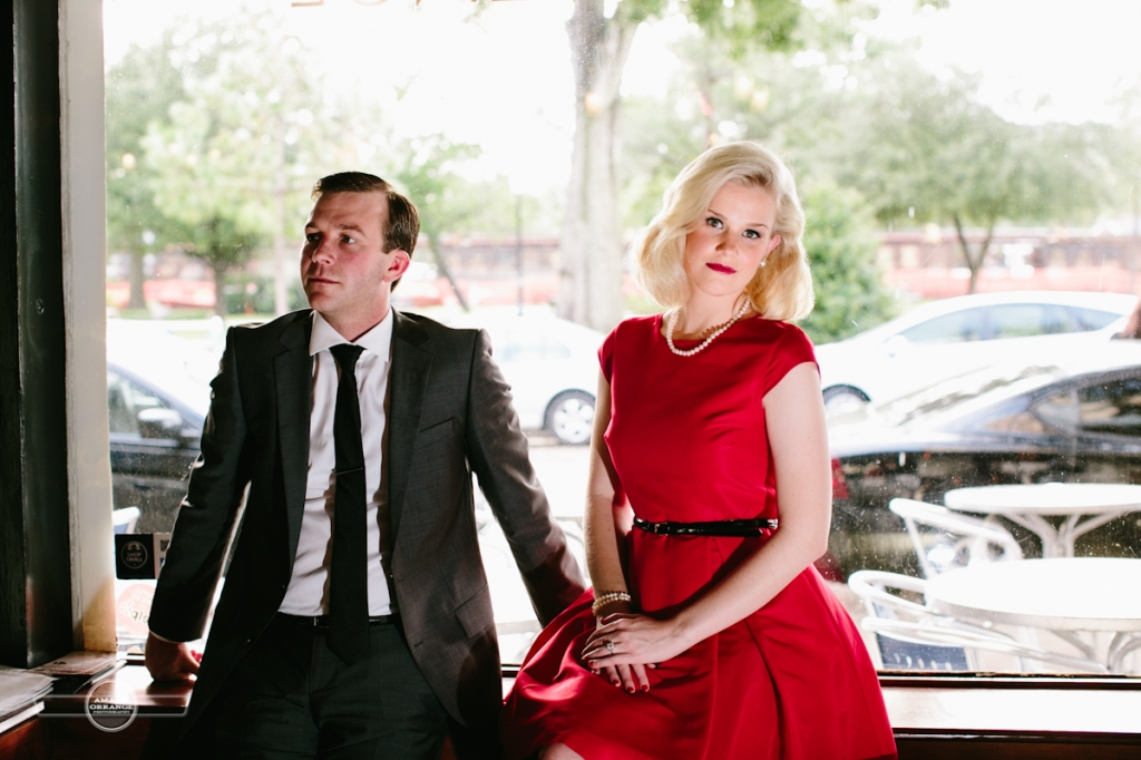 Mad Men themed engagement session