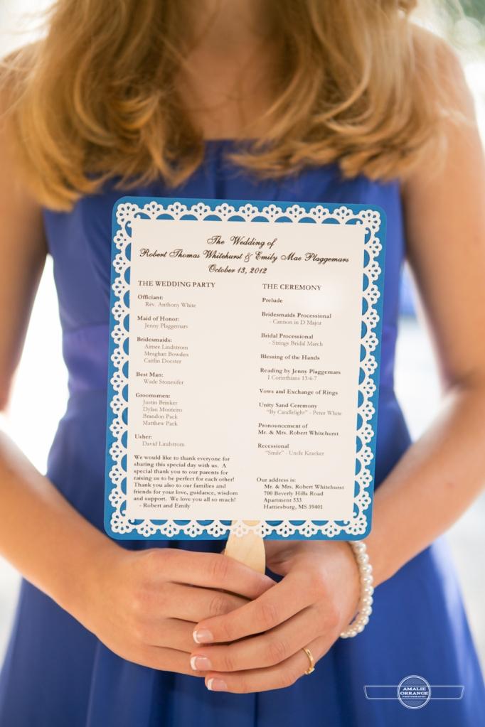 Bride holding program
