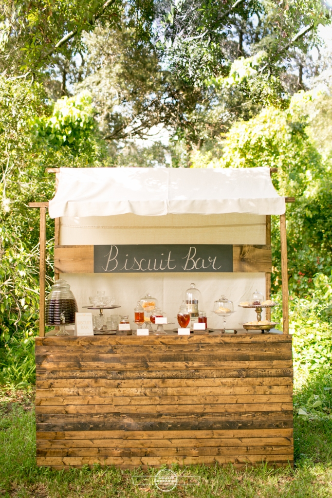 Honey and Biscuit bar for Southern wedding