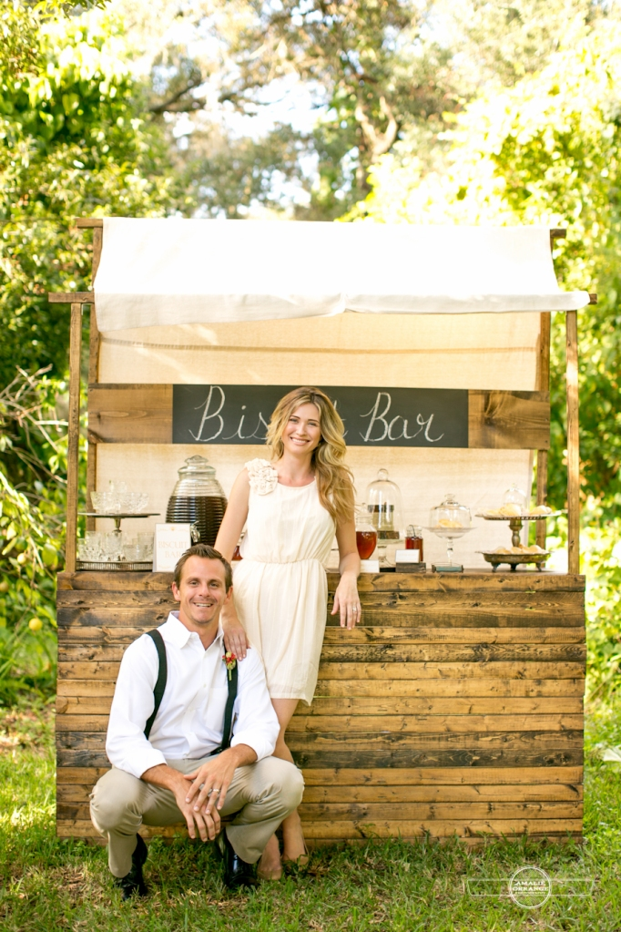 Bride and Groom biscuit bar Southern wedding