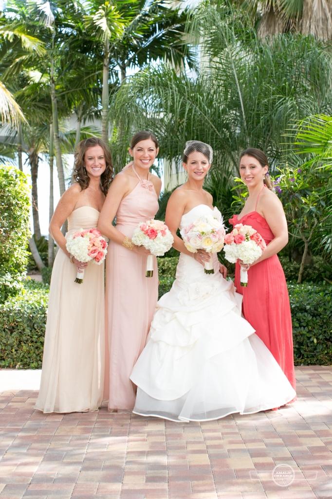 Florida beach wedding pink wedding