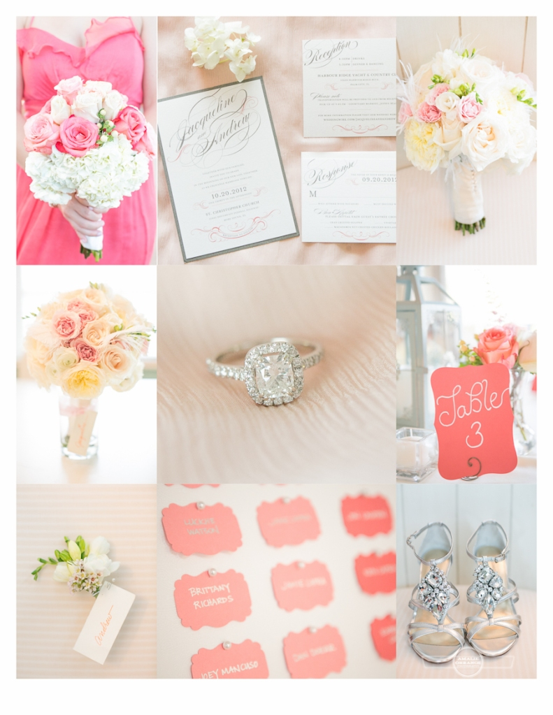 pink and coral wedding inspiration