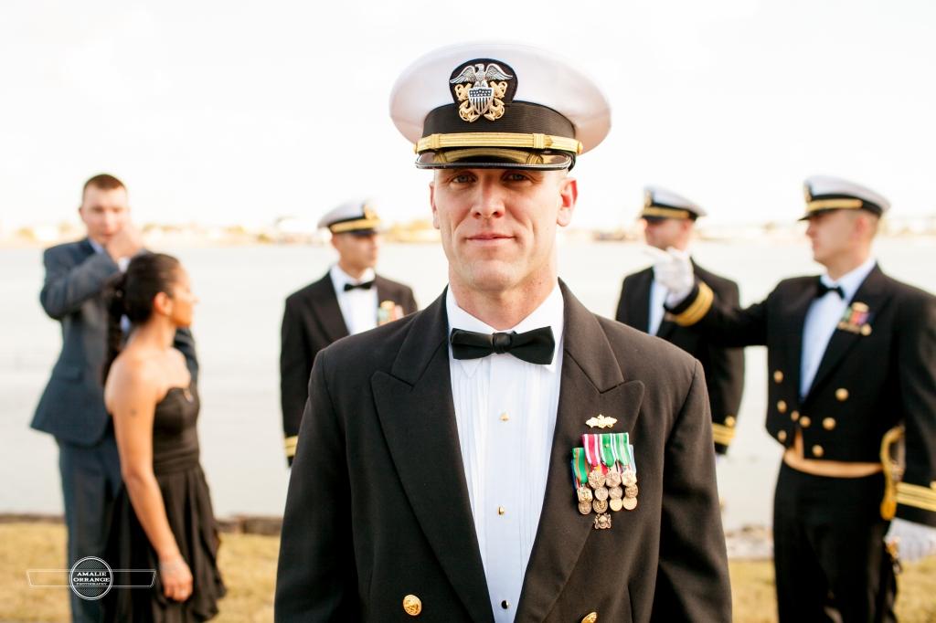 Navy wedding bridal party