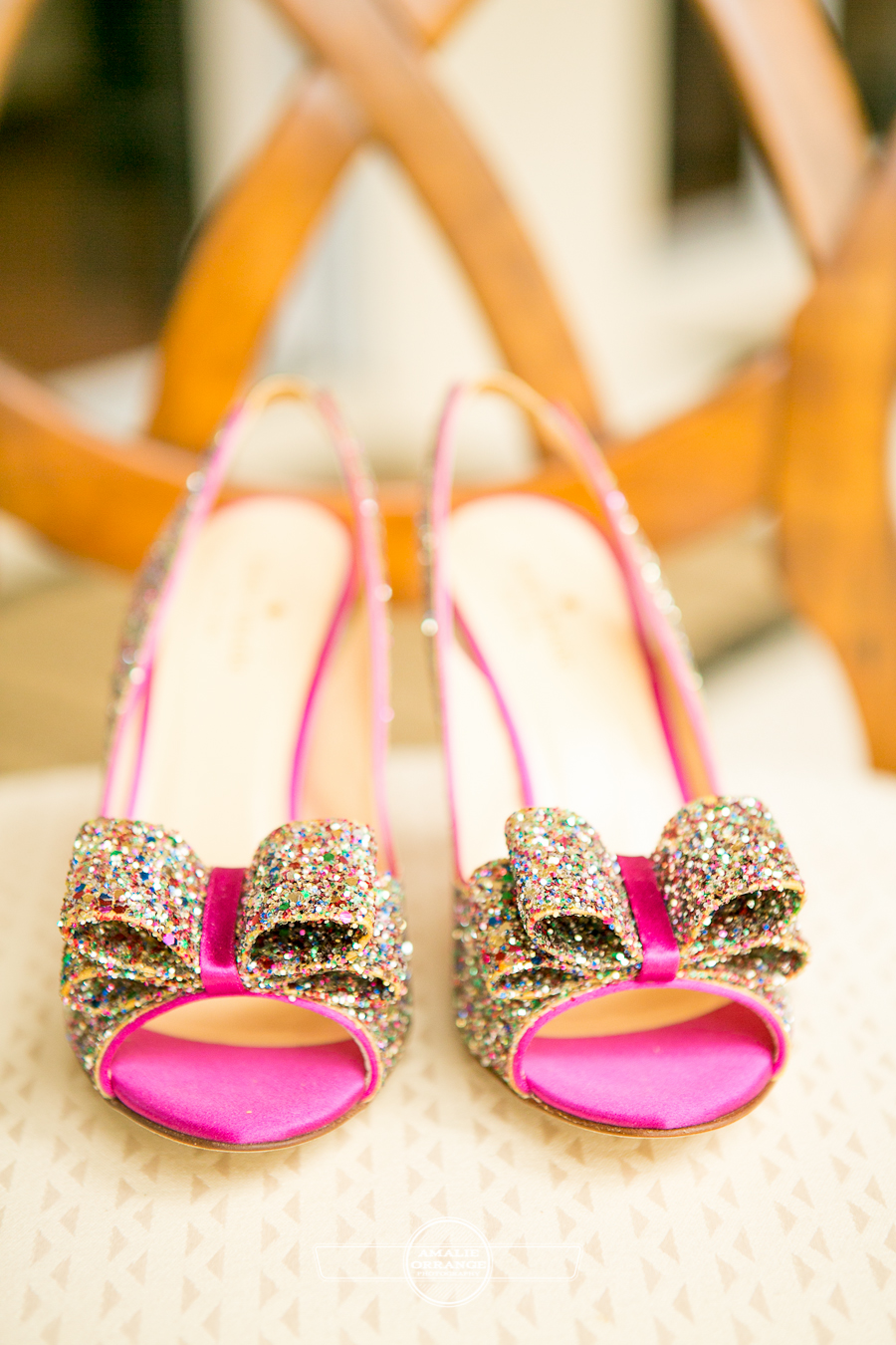 glittery pink shoes