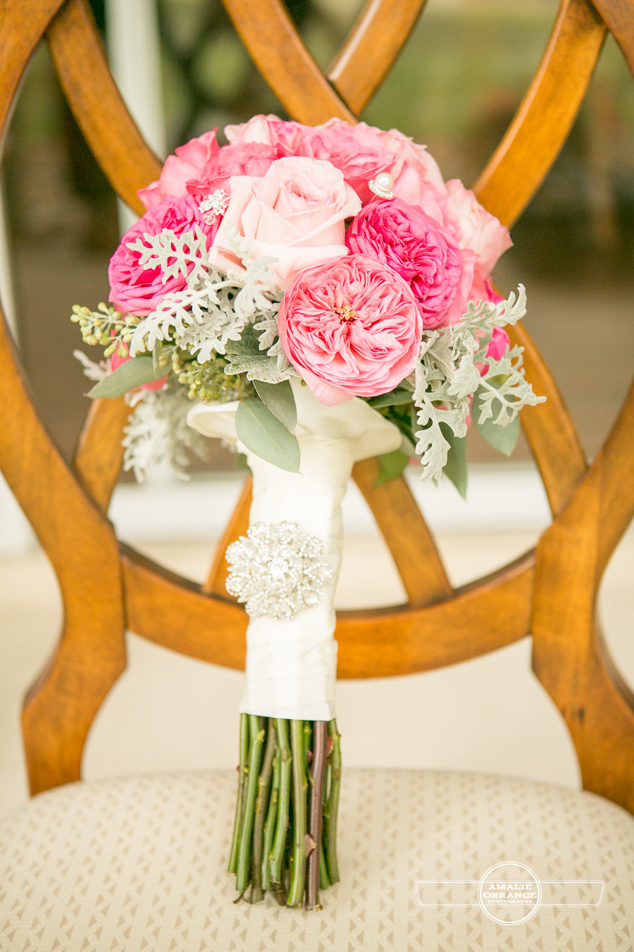 pink peony cabbage rose bouquet