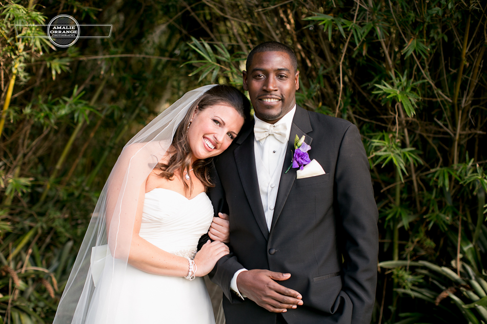 bride and groom  gorgeous interracial couple