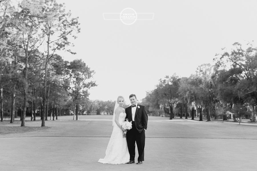Winter park wedding golfcourse