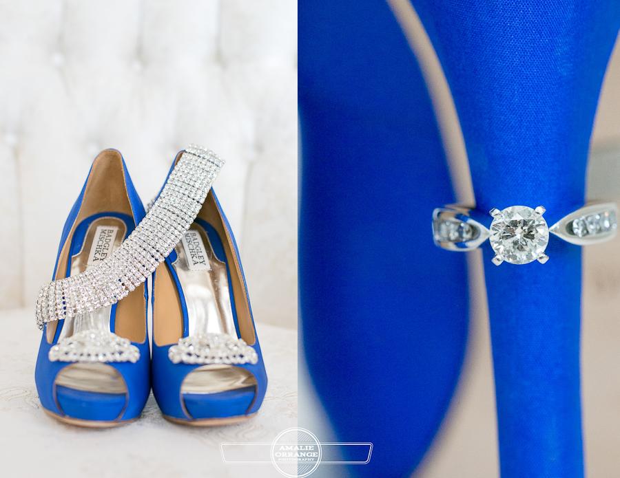 brides blue shoes