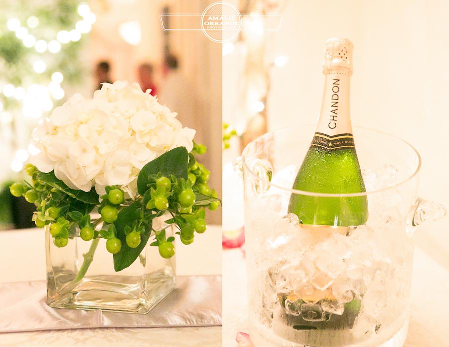 reception  champagne