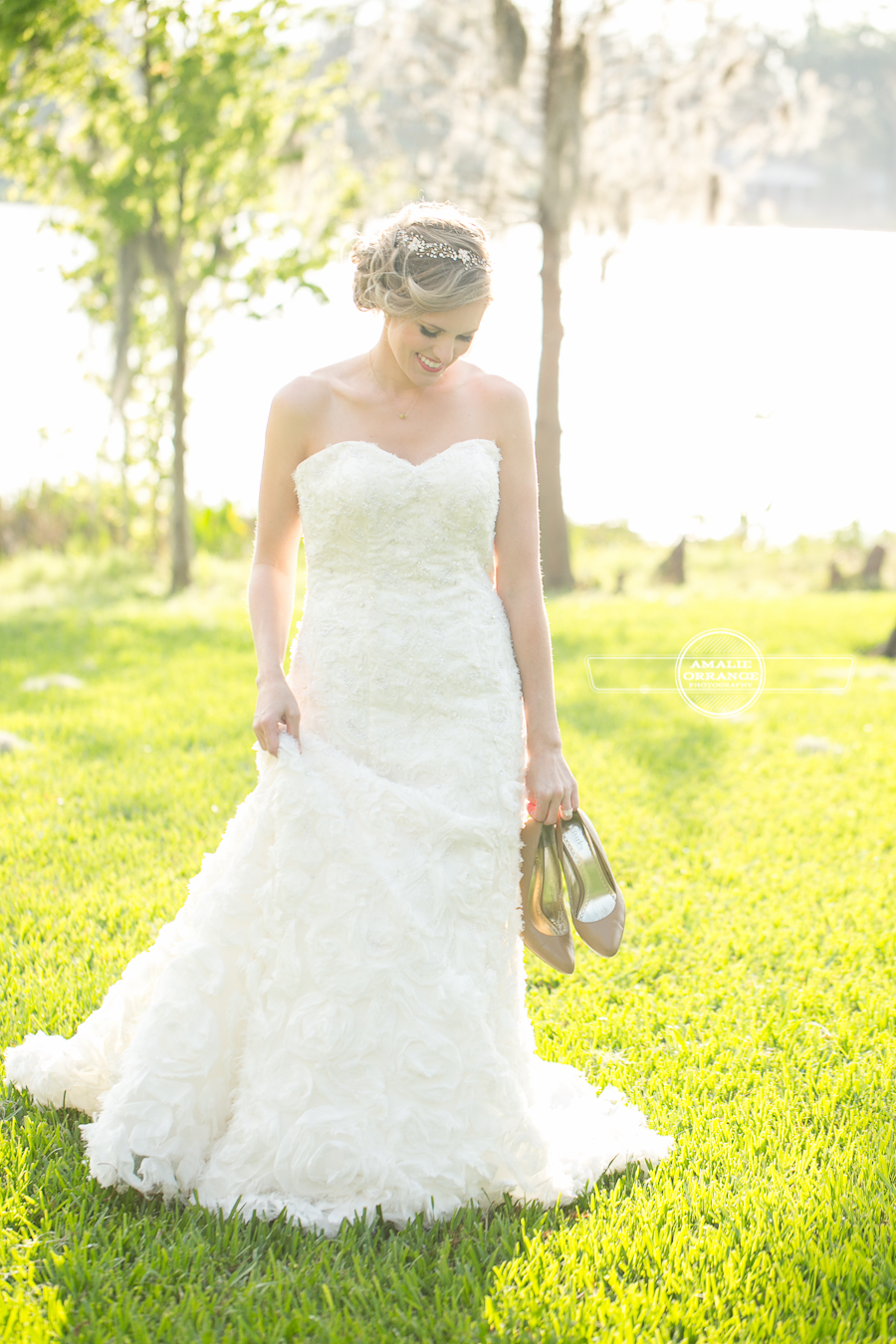 bride at cypress grove estate house