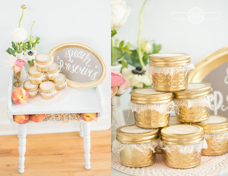 peach preserves wedding favors
