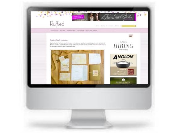 Featured on Ruffled wedding website