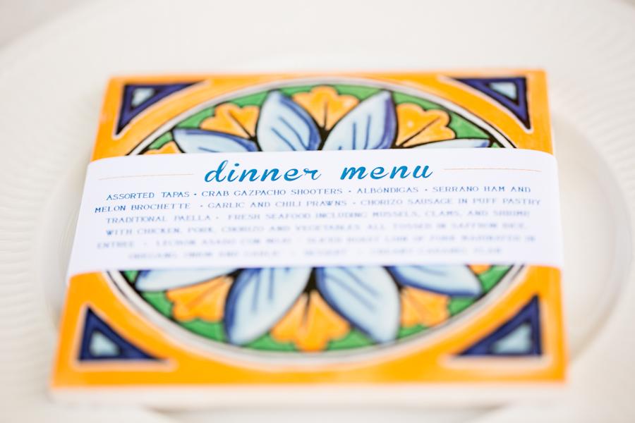 Spanish tile  wedding