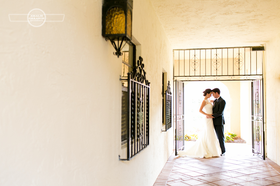 bride and groom at Mission Inn wedding